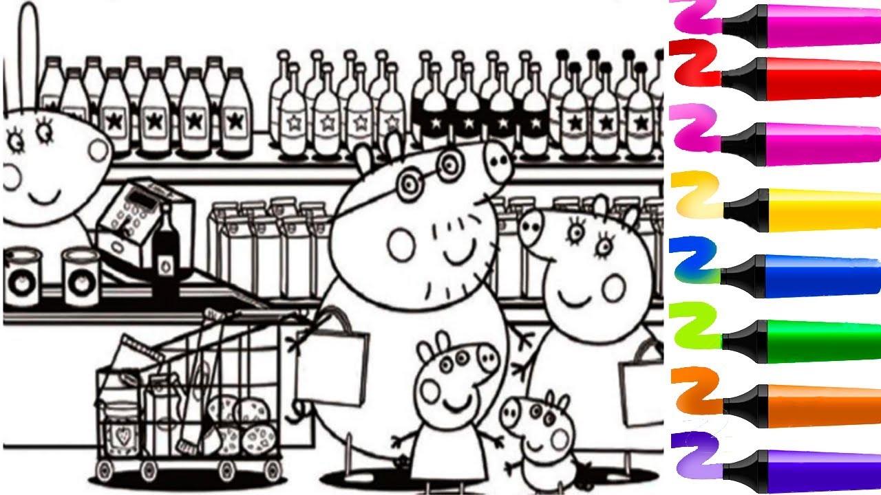 Coloriage Famille Magique.Coloriage Magique Peppa Cochon Et Sa Famille Coloriage Peppa Pig