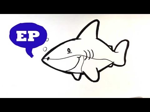 How to Draw a Cute Shark - Easy Pictures to Draw