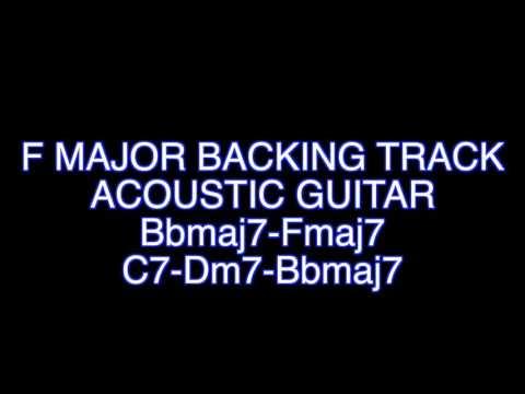 F Major Acoustic Guitar Backing Track