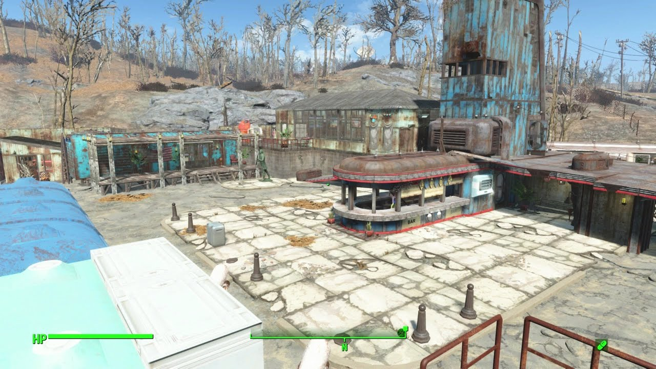 starlight drive in fallout 4 settlement tour no mods youtube