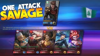 NEW HERO Claude Marksman VS 5 Gameplay (ONE HITTING EVERYTHING!) Mobile Legends
