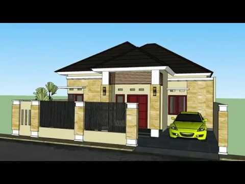 Desain Rumah minimalis elegan 3 kamar tidur luas 10x15