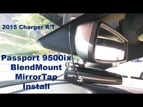 Installing An Escort Passport 9500ix With A Blend Mount & Mirror Tap | 2015 Charger R/T