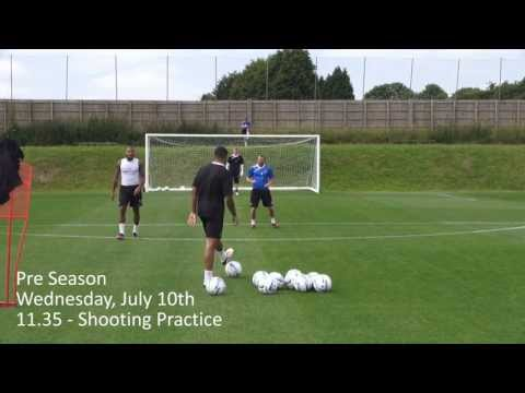Training Tekkers - Shooting practice with Leon Clarke and Callum Wilson