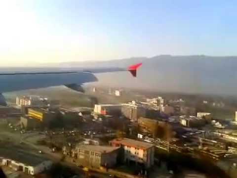 Turkish Airlines Airbus 320 Sarajevo Landing