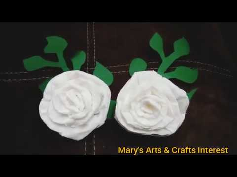 DIY Rose Tissue Flower II Flower Decor II Stay at home activity