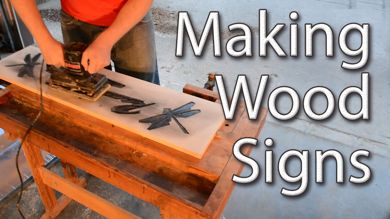 Making wood signs with a router youtube for Router templates for signs