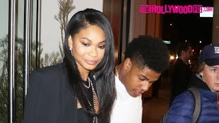 Chanel Iman & Sterling Shepard Enjoy A Romantic Dinner Together At Catch Seafood Restaurant 1.27.17
