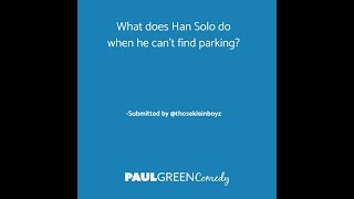 What does Han Solo do when he can't find parking?