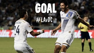 GOAL: Omar Gonzalez side volley doubles the LA lead | LA Galaxy v DC United