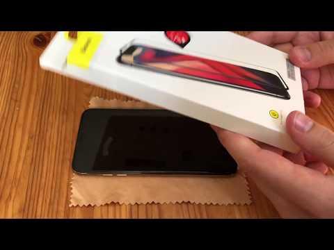 Защитное стекло Baseus на IPhone Xs Max. Как поставить стекло.