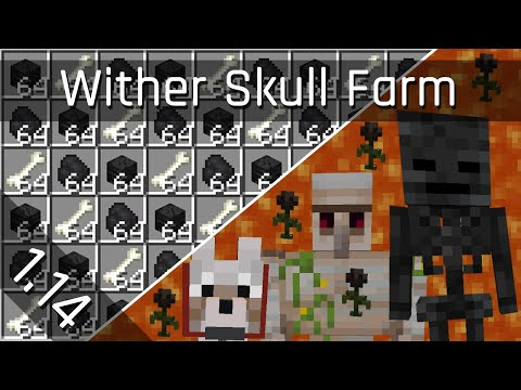 Wither Skeleton Skull Farm v2.0 | Minecraft 1.14