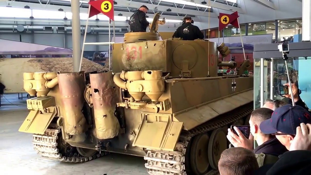 only operational tiger tank t131 spectacular maybach engine start up