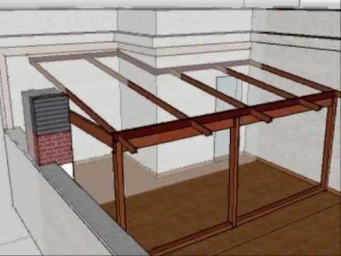 Dise o de cerramiento con madera en terraza de - Diseno de porches y terrazas ...