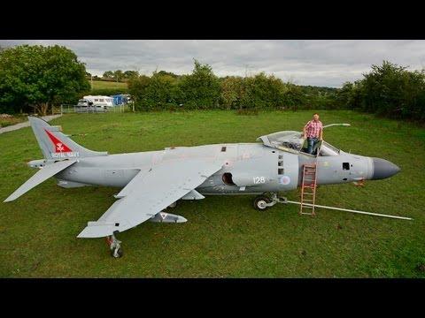 Harrier Jump Jet In My Back Garden: Enthusiast Restores Iconic Plane