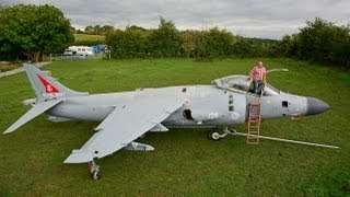 Harrier Jump Jet In My Back Garden: Enthusiast Restores Iconic Plane