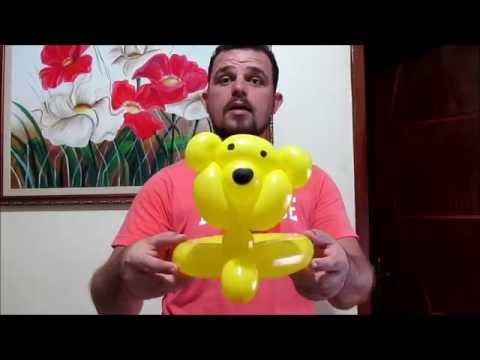 Escultura de balão (chapéu ursinhos carinhosos)   / Balloon Sculpture ( loving teddy bears Hat)