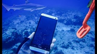 Акулы на Мальдивах! Подводный поиск среди акул!