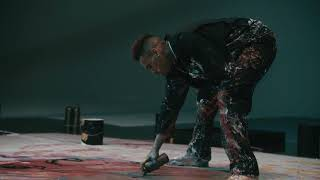 chris brown dances with paint