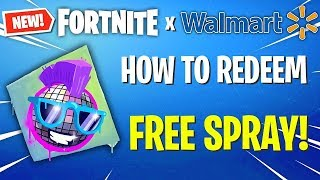 "*NEW* ""HOW TO GET FREE WALMART FORTNITE SPRAY EMOTE"" WORKS"