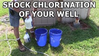 How to disinfect y๐ur well water - Shock chlorination