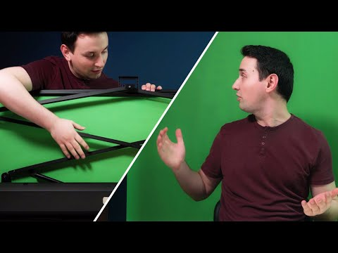 Neewer Green Screen Review | Hidden Pull-up Style Chroma Key!