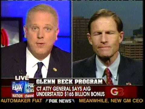 Glenn Beck Interviews Richard Blumenthal part 1