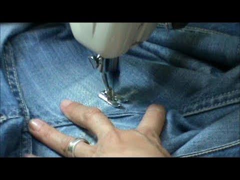 Zurcir o remendar un pantalón vaquero