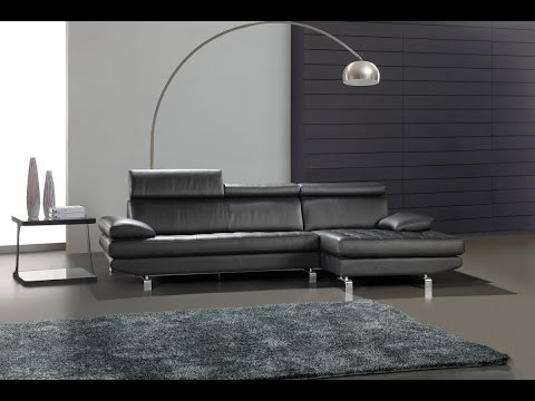 Minimalist L Shaped Leather For Small Living Room