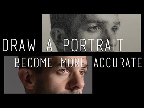 How to draw a portrait from a photo and become more accurate for life drawing
