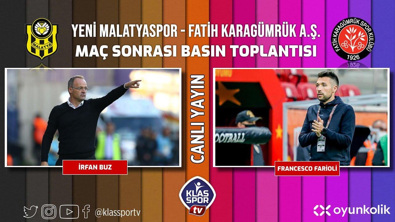 Malatyaspor - Karagümrük Basın Toplantısı ᴴᴰ (CANLI)