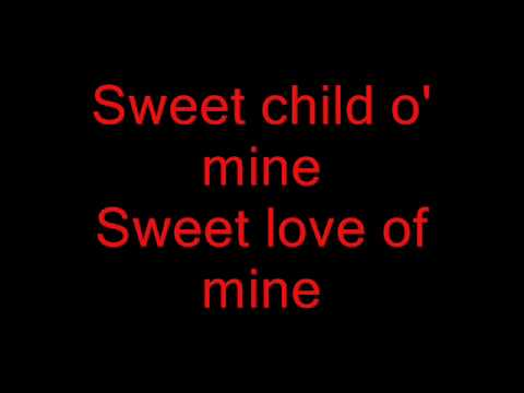 Sweet child of mine con testo - YouTube