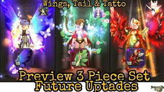 Wings, Tatto, Tail Preview Future Uptade  Dragon Nest M