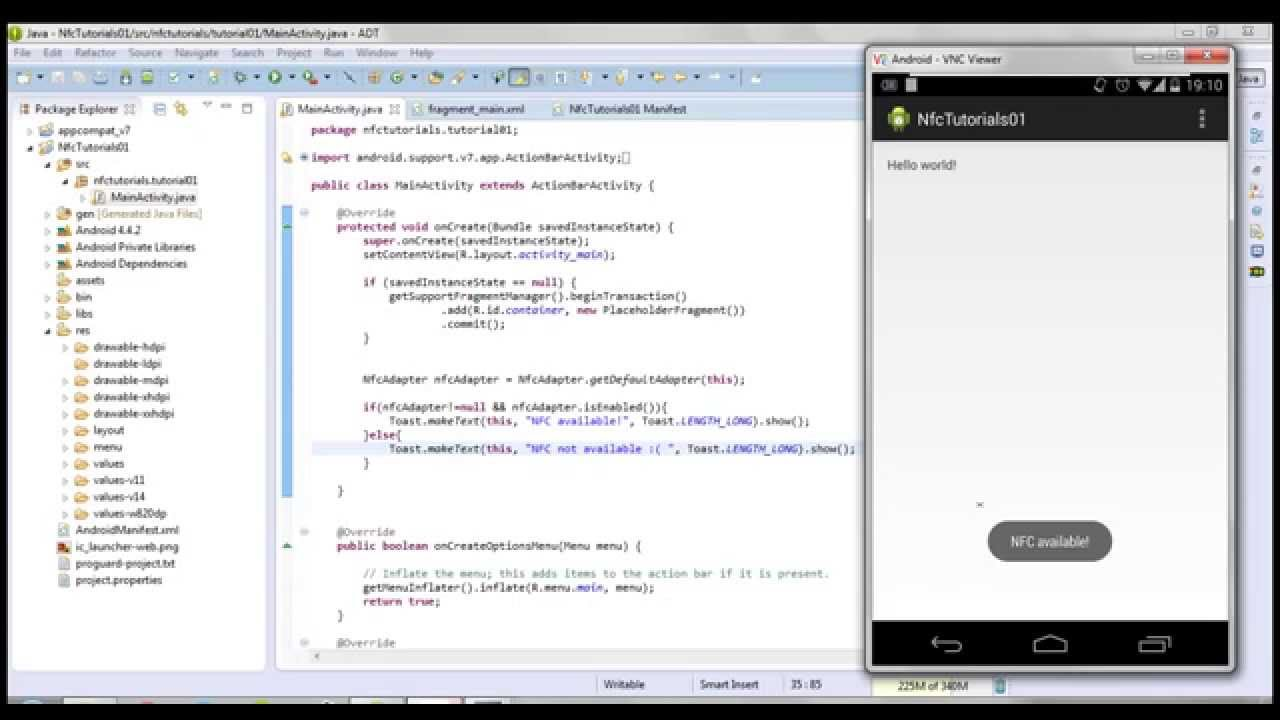 Android NFC Tutorial [01] - Getting Started - How to create an NFC enabled  application