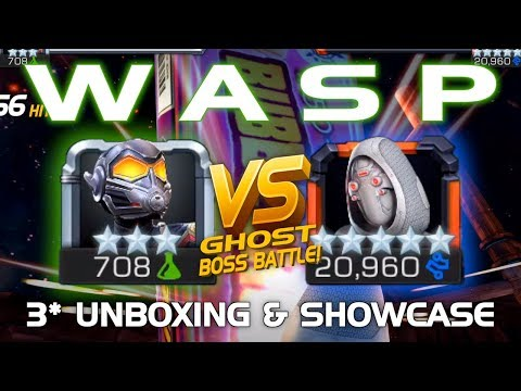 Wasp Unboxing & Battle vs. Ghost w/ Tips (Ant-Man & the Wasp Edition) | Marvel Contest of Champions