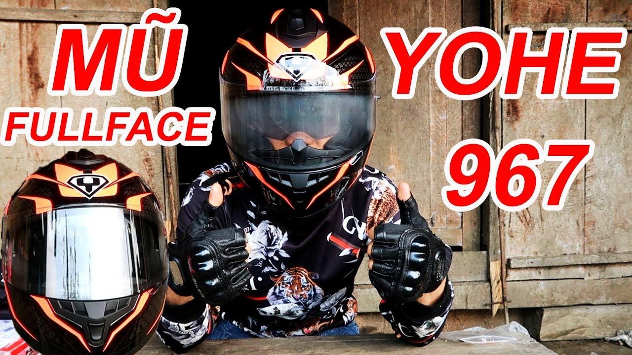 Mở Hộp Mũ Bảo Hiểm Fullface YOHE 967 Mua Trên Mạng   Cuộc Sống Miền Núi Vlogs