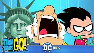 Teen Titans Go! En Español | Por el Poder de Estados Unidos | DC Kids
