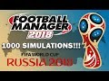 2018 FIFA World Cup Simulated 1000 Times! | Football Manager 2018 Experiment
