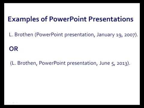 APA Style PowerPoint Presentations