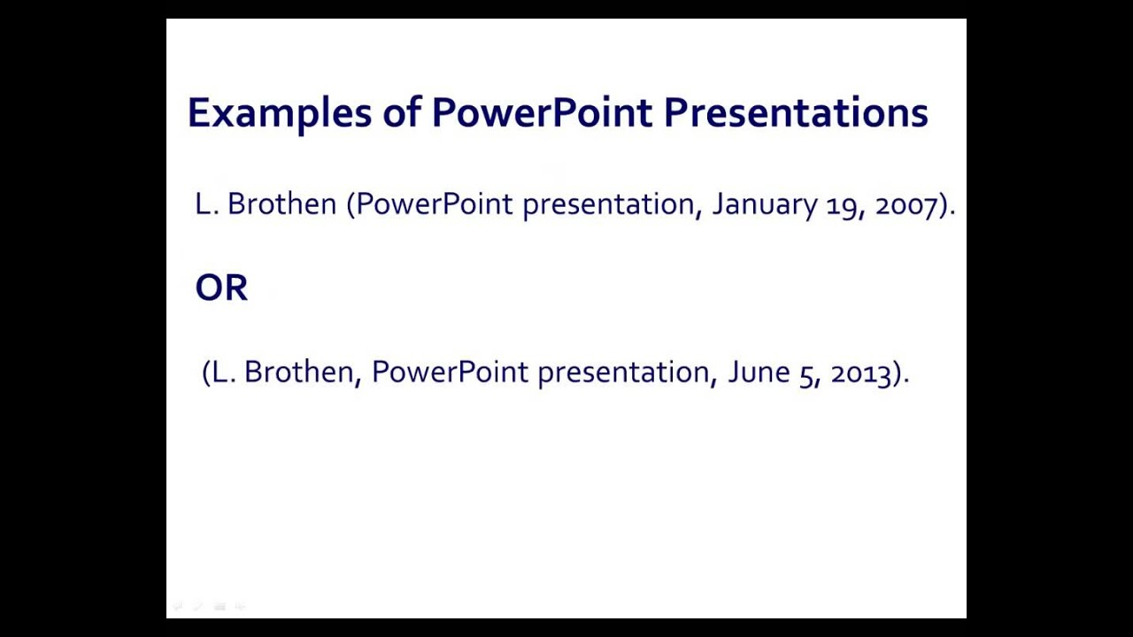 apa style powerpoint presentations youtube