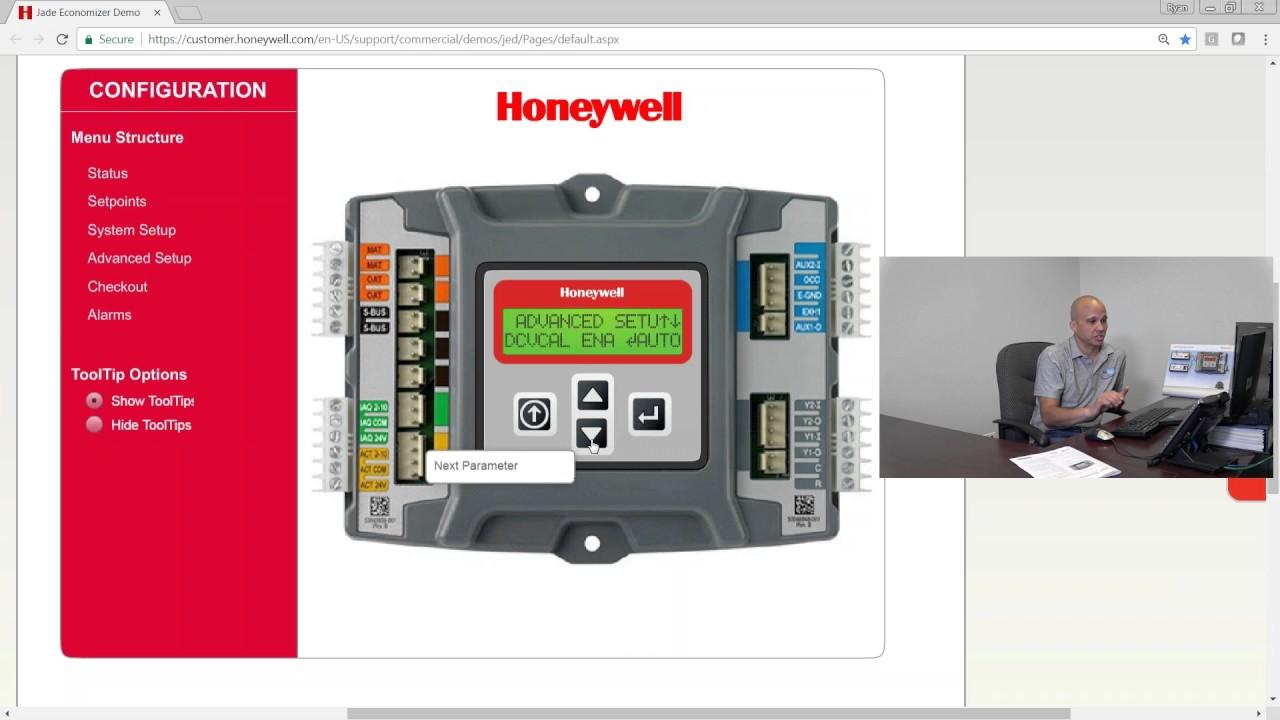hight resolution of economizers honeywell jade controller setup 2 of 4