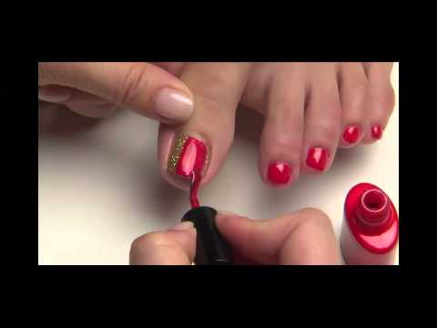 CND Shellac Toes Nail Art Step by Step Tutorial | www.Nailsrus.ca