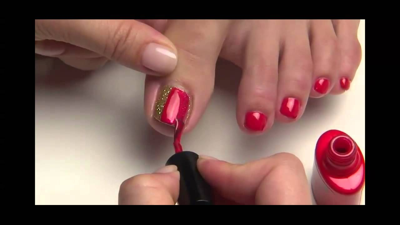 CND Shellac Toes Nail Art Step by Step Tutorial  www