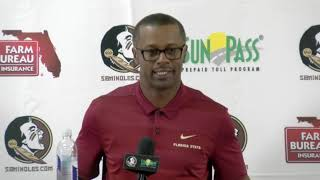 Florida State head football coach Willie Taggart on correcting mistakes, possible solutions