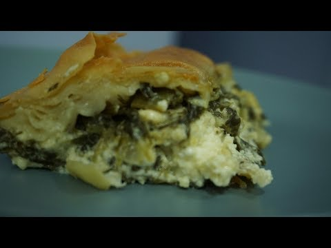 How to make easy traditional Greek Spinach pie - Spanakopita - Σπανακόπιτα