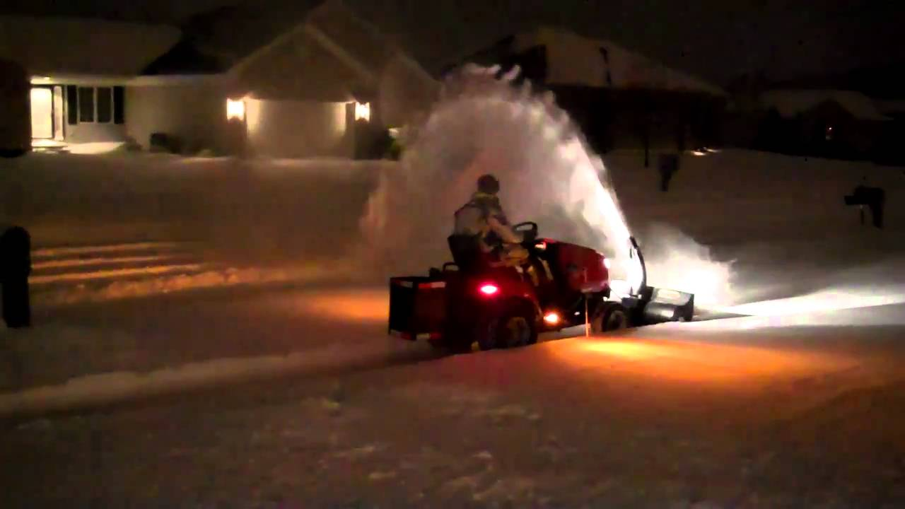 """Simplicity Legacy 2wd 47"""" Single Stage Blower - YouTube"""