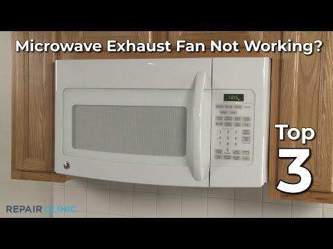 microwave exhaust fan not working