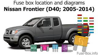 fuse box location and diagrams: nissan frontier (d40; 2005-2014) - youtube  youtube