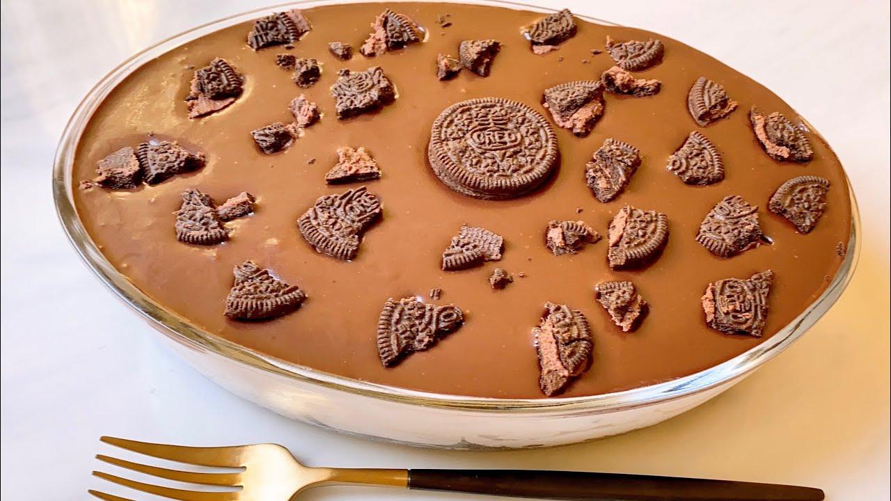 Creamy Oreo Chocolate Pudding  വെറും 10 മിനുട്ടിൽ ആർക്കും തയ്യാറാക്കാം   Eggless super easy pudding