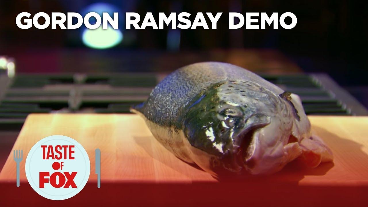 Gordon Ramsay Demonstrates How To Filet A Salmon  Taste Of Fox